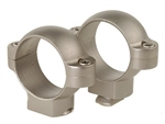 BURRIS Standard Solid Steel Rings (Dovetail front, Windage Adjustable Rear) Silver Medium 1 inch