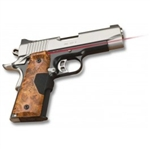 CRIMSON TRACE Lasergrip 1911 Full Size Pro-Custom Burlwood Finish (Government & Commander) Front Activation