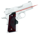 CRIMSON TRACE Lasergrip 1911 Compact (Officer & Defender) Master Series Real Rosewood Front Activation