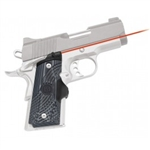 CRIMSON TRACE Lasergrip 1911 Compact (Officer & Defender) Master Series G10 Black/Grey Front Activation