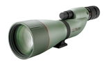 KOWA TSN 88mm Straight Spotting Scope (Green Rubber Armor) (Prominar Pure Flourite Lens) with Kowa 25-60X Eyepiece Works Package