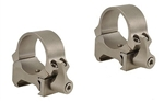 LEUPOLD Quick Release Weaver Style 1-inch, Low, Silver Rings
