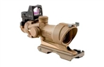 Trijicon ACOG 4x32 Dark Earth Brown Scope, Center Illumination Amber Crosshair Reticle w/ 3.25 MOA RMR Sight