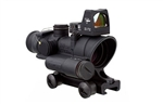Trijicon ACOG 4x32 LED Illuminated Red Crosshair Reticle, 3.25 MOA RMR Sight, and TA51 Mount