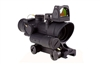Trijicon ACOG 4x32 LED Illuminated Red Crosshair Reticle, 3.25 MOA Adjustable RMR Sight, and TA51 Mount