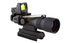 Trijicon ACOG 3x30 Scope, Dual Illuminated Amber Horseshoe / Dot .223 Ballistic Reticle, 3.25 MOA RMR Sight, and TA60 Mount