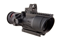ACOG 6x48 Machine Gun Optic, Dual Illuminated Red Chevron .223 Ballistic Reticle, 6.5 MOA RMR® Sight, and TA75 Mount