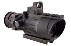 ACOG 6x48 Machine Gun Optic, Dual Illuminated Red Chevron .308 Ballistic Reticle, M1913 Rail, 6.5 MOA RMR Sight, and TA75 Mount