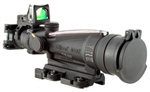 TRIJICON ACOG 3.5x35mm Dual Illuminated Red Horseshoe Dot M249 .223 Ballistic Reticle with 9.0 MOA RMR and TA51 Flat Top Adapter