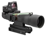 TRIJICON Compact ACOG 3x30mm Dual Illumination Green Horseshoe Dot .223 Ballistic Reticle with TA60 Mount and 4.0 MOA RMR Sight