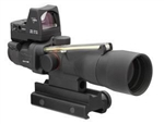 TRIJICON Compact ACOG 3x30mm Dual Illumination Amber Horseshoe Dot .223 Ballistic Reticle with TA60 Mount and 4.0 MOA RMR Sight