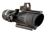TRIJICON ACOG 6x48mm MGO Dual Illuminated Red Chevron .223 Ballistic Reticle 8.0 MOA RMR Sight and TA75 Adapter