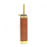 Alabama Tubular Leather Covered Powder Flask. DP528