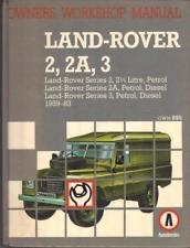 Land-Rover 2, 2A, 3 Owner Workshop Manual by Autobooks