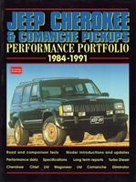 Jeep Cherokee & Comanche Pickups Performance Portfolio 1984-1991, compiled by R.M. Clarke