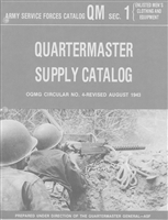 Quartermaster Supply Catalog:  Enlisted Men's Clothing & Equipment (1943)