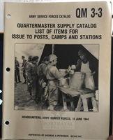 Quartermaster Supply Catalog:  List of Items for Issue to Posts, Camps and Stations