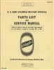 U.S. Army Columbia Military Bicycles Parts List and Service Manual (G519)