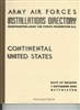 Army Air Forces, Installations Directory, Continental US