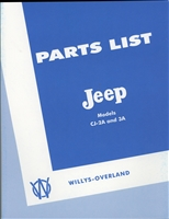 Parts Manual, CJ2A & CJ3A, 170 pages