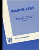 Parts List Jeep Station Wagon & Panel Truck