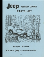 Parts List Jeep Forward Control Models FC-150, FC-170