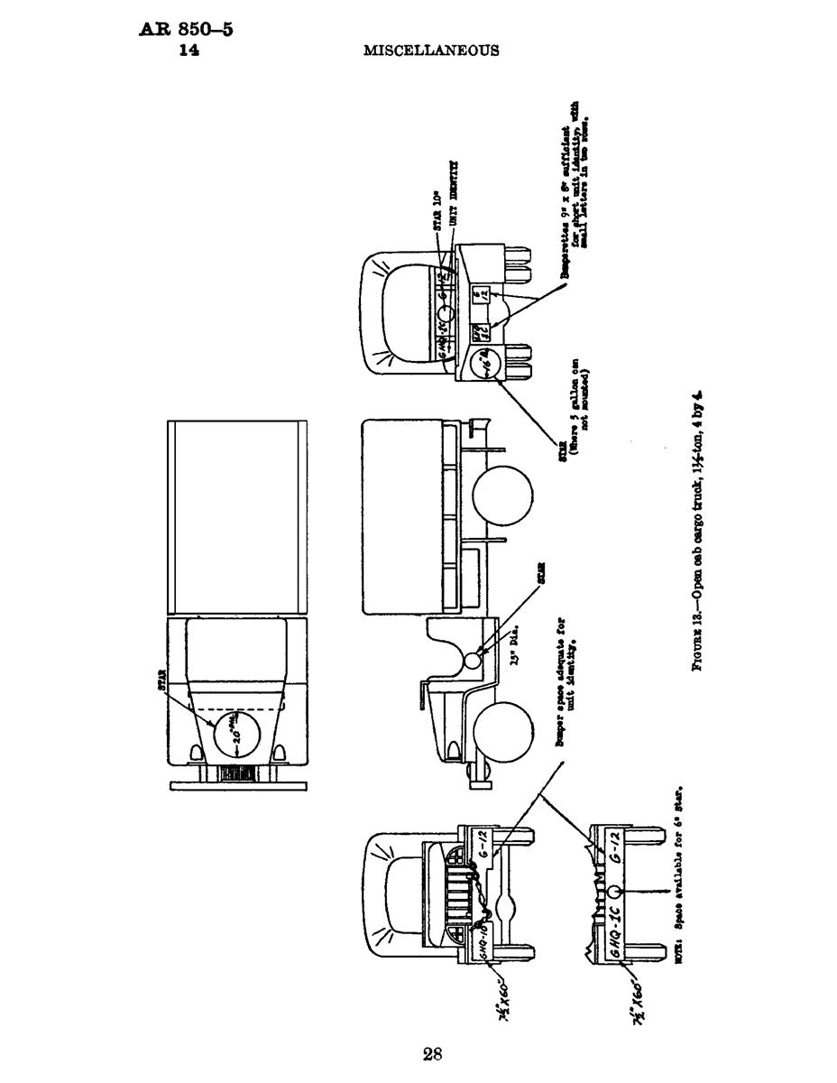AR-850-5 U.S. Army Vehicle Markings, WWII