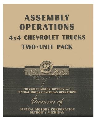 Assembly Operations.  4x4 Chevrolet Trucks 2 Unit Pack (G506)