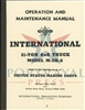 Operation & Maintenance International 2 1/2 ton M-5H-6, 6x6 truck