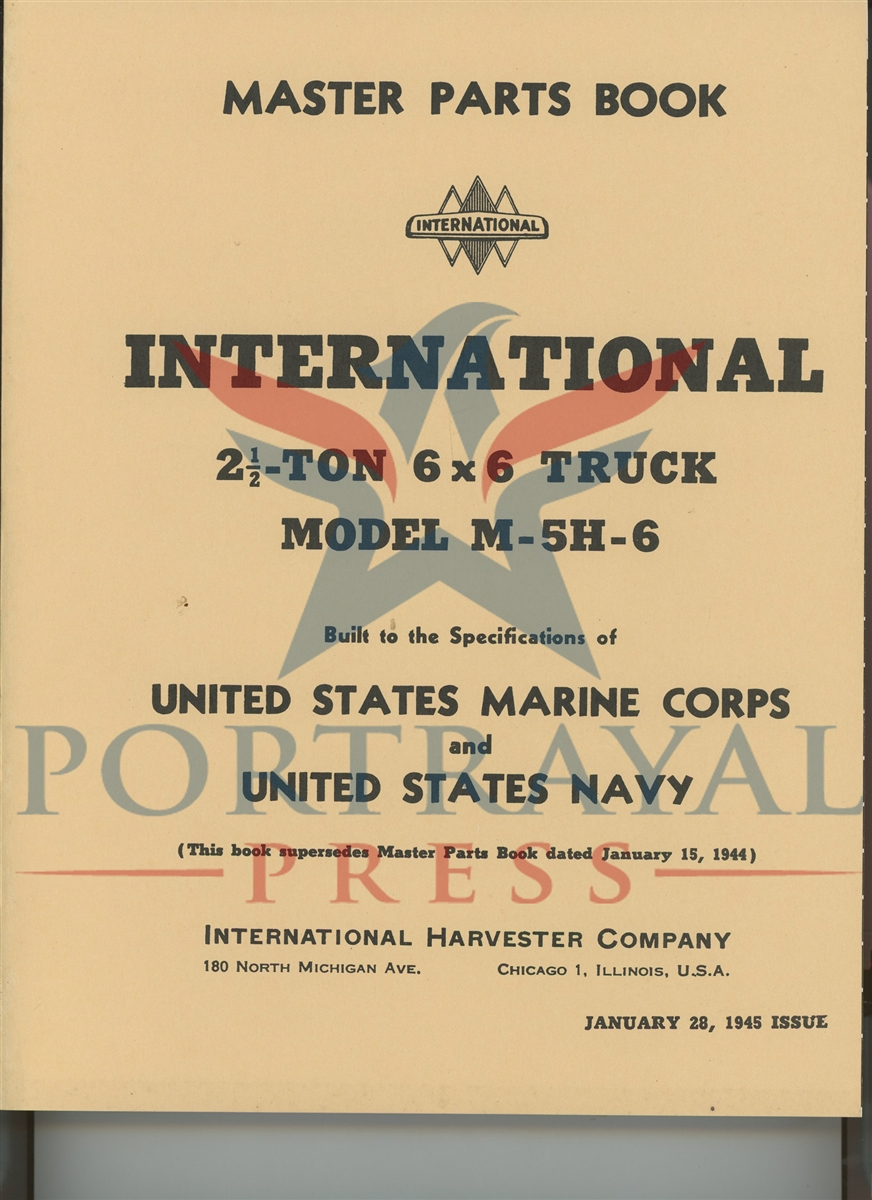 master parts manual, international m-5h-6, 6x6 truck � larger photo