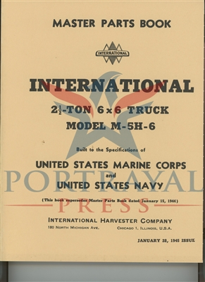 Master Parts Manual, International M-5H-6, 6x6 truck