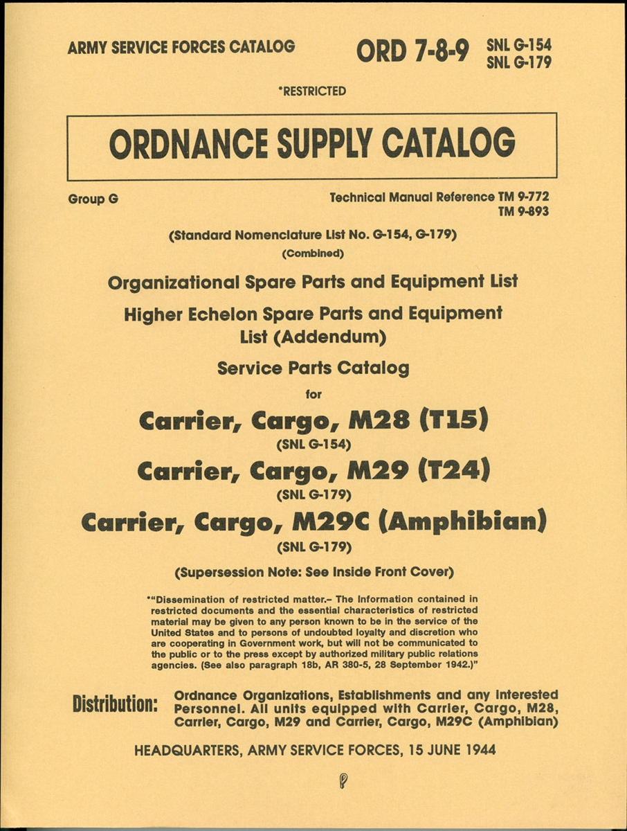 M29 Weasel Wire Diagram Wiring Library Diagrams Simple Options First Special Service Force