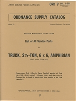 ORD 9 G501, GMC DUKW Illustrated Parts Manual (1945)