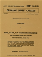 ORD 9 G503 Illustrated Parts for MB/GPW (1945 Edition)