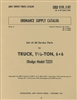 ORD 9-G507 Parts Manual Dodge 6x6 1 1/2 Ton Truck (T223)