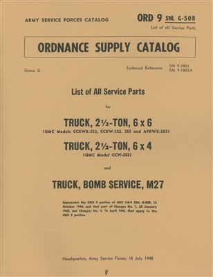 Cover of ORD 9 G508