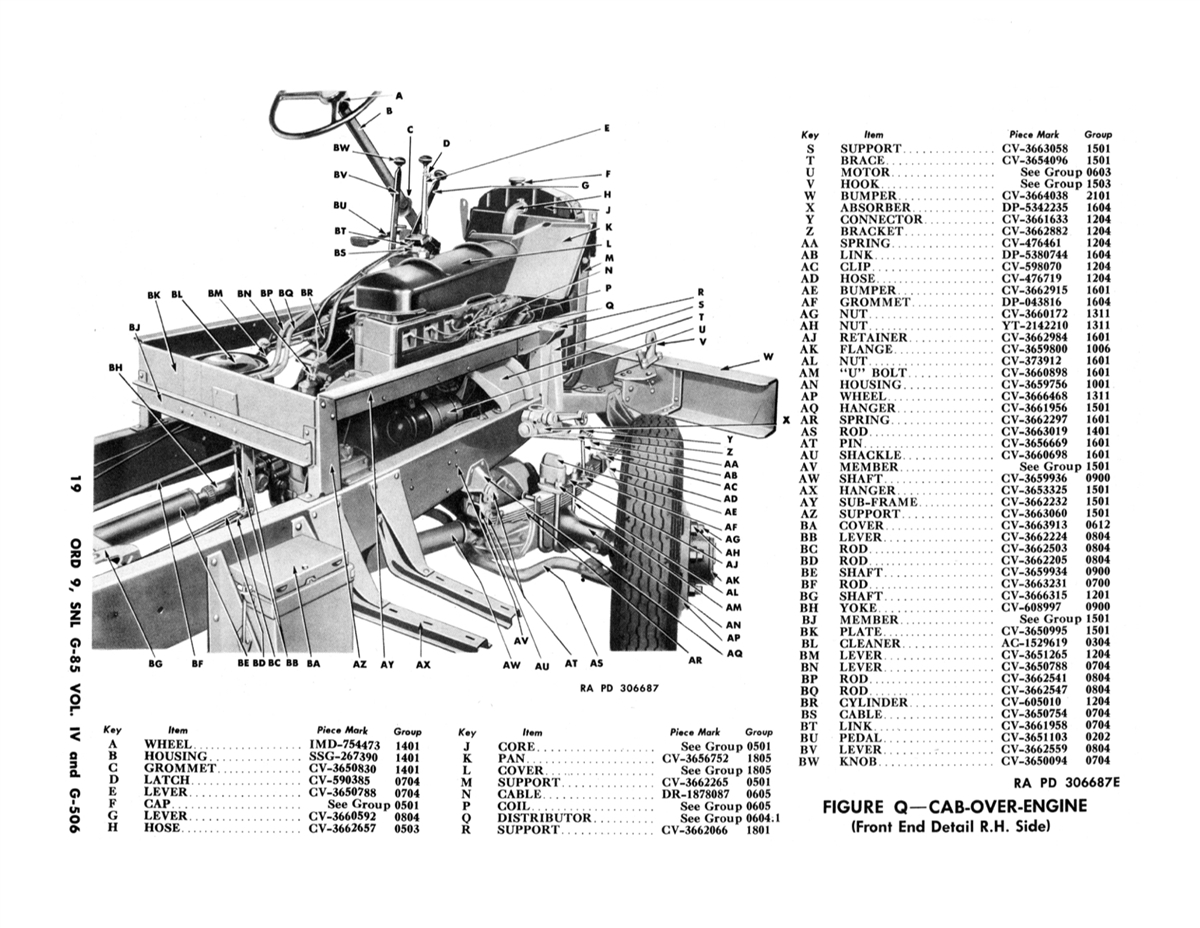 ORD 9 G85 G-506 Chevrolet Illustrated Parts Manual for 1 1