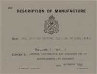 Description of Manufacture (Blueprints) Browning M1919 .30 Caliber Automatic - Rock Island Arsenal, 1944