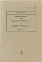 Technical Manual for Radio Set 609-A and 610-A