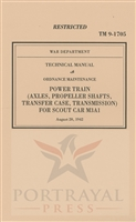 TM 9-1705 Repair Manual:  Power train. White Scout Car - M3A1 (G67)