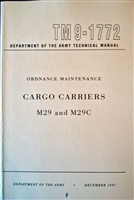 TM 9-1772 Rebuild Manual for WW2 Studebaker Weasel