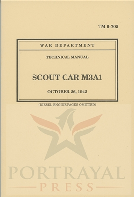 TM 9-705 Operator & Repair.  White Scout Car - M3A1 (G67).