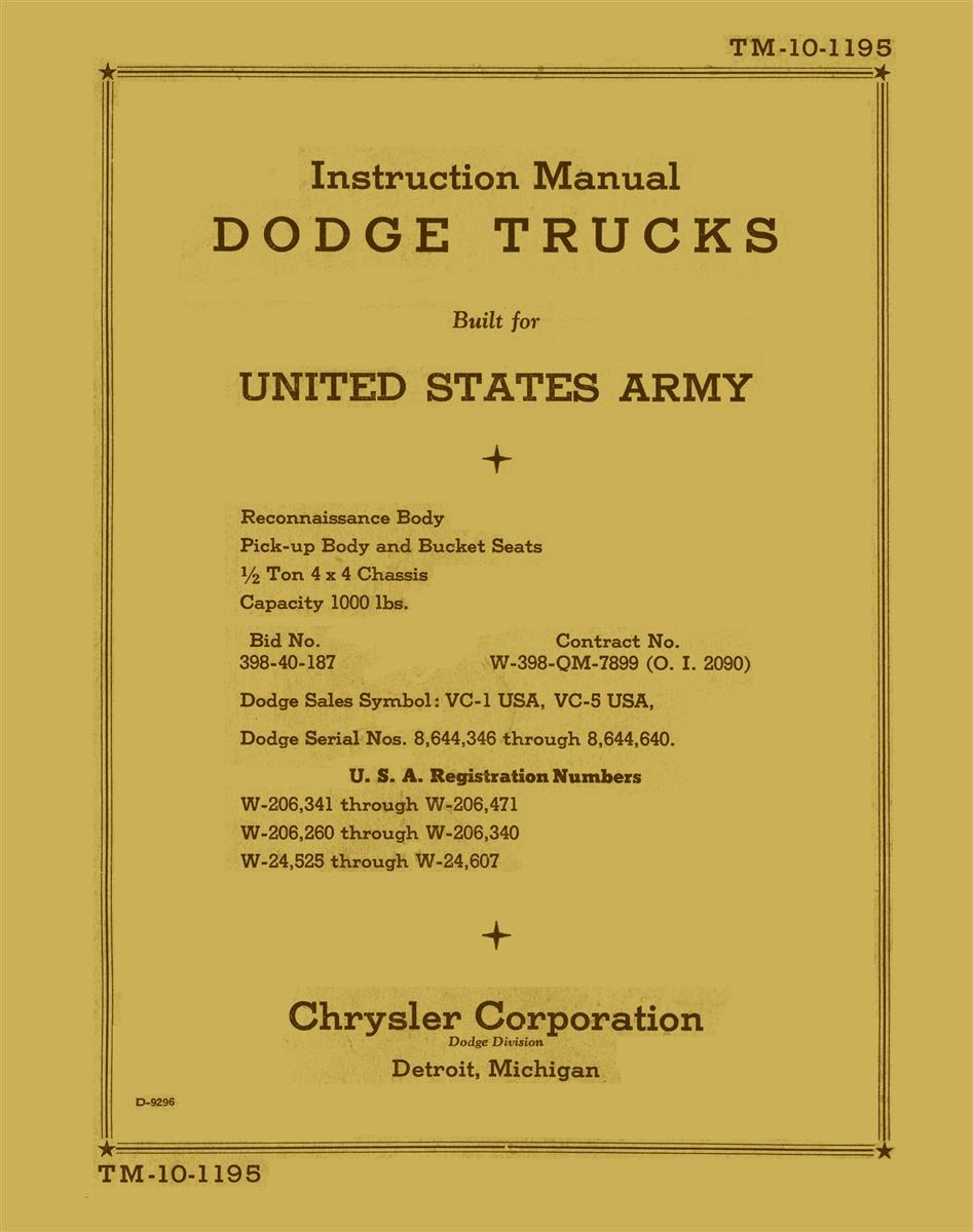 10 1195 instruction manual 12 ton dodge 4x4 vc 12345 tm 10 1195 instruction manual 12 ton dodge 4x4 vc 12345 biocorpaavc