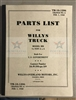 TM 10-1206, Change 6, Feb 1., 1942 Illustrated Parts Manual for Willys MB