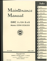 TM 10-1269 Maintenance Manual for GMC 2 1/2 Ton 6x6 Model CCKW-352, 353