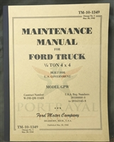 TM 10-1349, Change 1, Ford GPW Maintenance Manual (3/30/42)