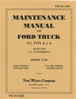 Official US Army Ford GTB Maintenance Manual