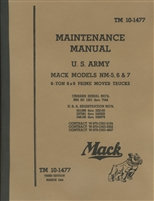TM 10-1477 Maintenance Manual Mack Prime Mover, NM-5, NM-6 & NM-7