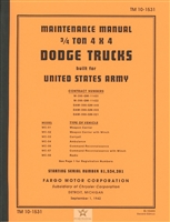 TM 10-1531 Maintenance Manual (Dodge G502)
