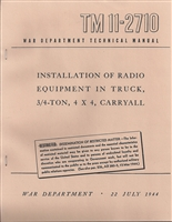 TM 11-2710 Radio Installation